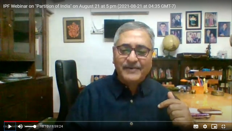 Webinar on Partition of India